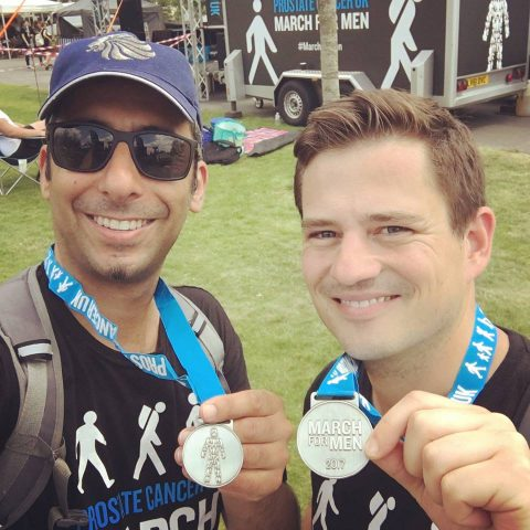 Yaz and Zoltan Walk from Bromley Orthodontist Walk For Prostate Cancer